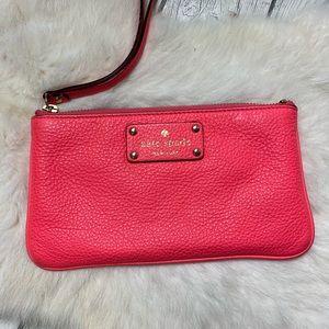 "Kate Spade Wristlet 8"" X 4"" Pink Leather"